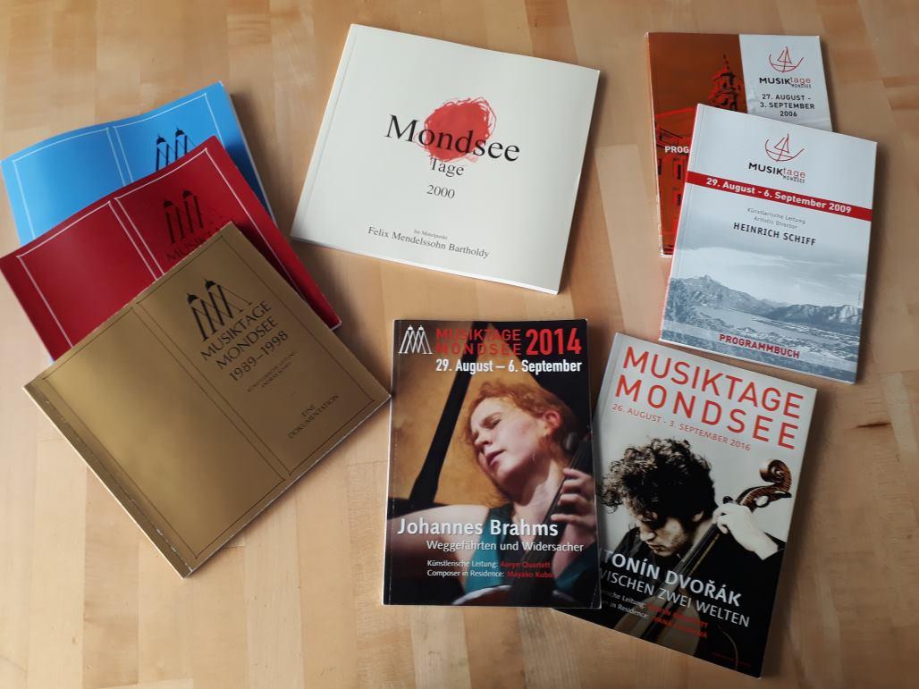 Programmbücher der Musiktage Mondsee