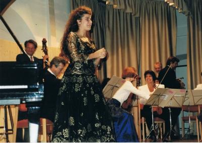 Cecila Bartoli bei den Musiktagen Mondsee 1993